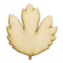 Hawthorne Leaf cut from 3mm MDF, Craft Blanks, Shapes, Tags, Autumn Leaf
